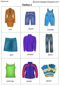 Esl Pages: Clothes English Vocabulary Words, Learn English Words, English Study, English Lessons, English Grammar, Learning English For Kids, English Language Learning, Teaching English, English Worksheets For Kindergarten
