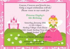 Princess Party Invitations Printable Birthday Invites