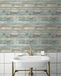 Blue Distressed Barnwood Plank Wood Peel and Stick Wallpaper | Etsy Faux Wood Wall, Stick On Wood Wall, Distressed Wood Wall, Peel And Stick Wood, Rustic Wood Walls, Barn Wood, Rustic Barn, Wood Plank Texture, Wood Planks