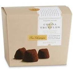 Champagne Chocolate Truffles | Williams Sonoma $6/24pc ... a good gift bag item?