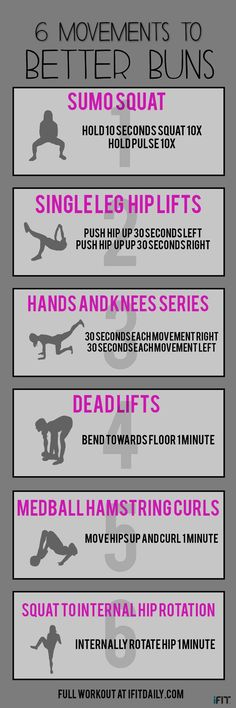 6 Movements to better buns, these movements are perfect for everyone.