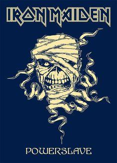 Iron Maiden - Powerslave II by croatian-crusader Iron Maiden Members, Iron Maiden Mascot, Iron Maiden Shirt, Iron Maiden Band, Iron Maiden Album Covers, Iron Maiden Albums, Hard Rock, Heavy Metal Rock, Heavy Metal Bands