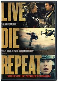 "Edge of tomorrow [videorecording] : live, die, repeat / Warner Bros. Pictures in association with Village Roadshow Pictures ; directed by Doug Liman ; written by Christopher McQuarrie, Jez Butterworth ; produced by Erwin Stoff ... and others. Based on ""All You Need Is Kill."""