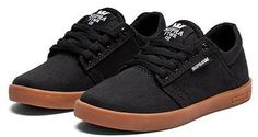 Supra Kids Westway Black/White Gum Shoes Size U.S. 3.0 on Sale