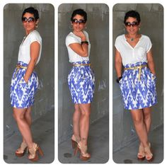 mimi g.: DIY IKAT Print Skirt + Pattern Review Simplicity 2512 + Special Offers!