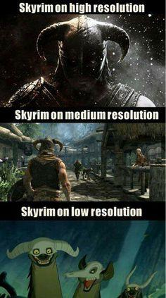 Ahaha #Skyrim resolution.