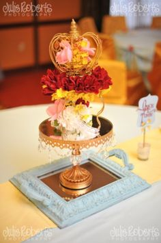 Beauty and the Beast - Princess Belle Royal Ball - Birthday Party Ideas - Princess Parties - Centerpiece - decor