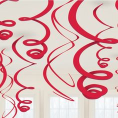 Red Hanging Swirls