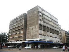 Abreu, Santos e Rocha Building, Maputo, Mozambique, 1955 Futurism Architecture, Architecture Design, Maputo, Multi Story Building, 1, African, Memories, Santos, Rock