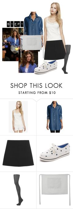 """""""Rachel Green: S1 Ep 1 @ Central Perk"""" by allison4accent-artworks on Polyvore featuring Go Silk, RED Valentino, Kate Spade, Topshop, friends and rachelgreen"""