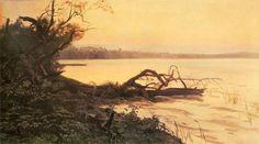 Zachód słońca – Jezioro Świteź | Wirtualne Muzeum Józefa Chełmońskiego