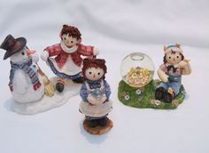 Enesco Raggedy Ann and Andy Figurines lot of 3 Figures