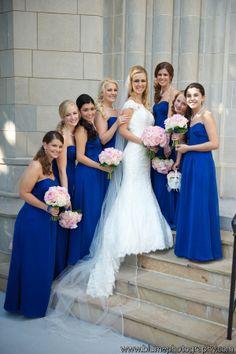 Bridesmaids with bride.