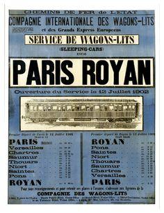 Chemins de Fer de l'Etat - c-royan.com, mémoire vive encyclopédique de Royan et sa région Paris, Event Ticket, Paths, Tourism, Iron, Montmartre Paris, Paris France