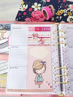 Planner e Scrapbook Little Girls.  Insert A5 e Recortes para colagem.
