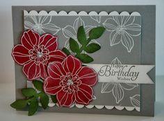 Birthday card & card holder set