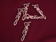 Hanging Skeleton Charms Lot of 5 by AGothShop on Etsy, $1.50