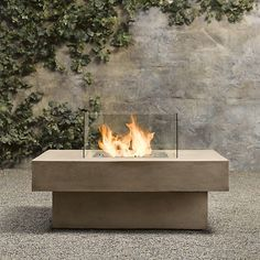 Outside fire pit