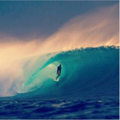 The call of the ocean amazing wave turquoise sea surfer