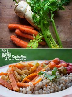 Polenta, Green Beans, Carrots, Detox, Healthy Recipes, Healthy Food, Vegetables, Cooking, Fit