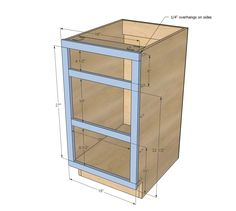 """Ana White   Build a 18"""" Kitchen Cabinet Drawer Base   Free and Easy DIY Project and Furniture Plans"""