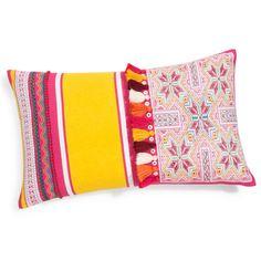 Baumwollkissen SANA mit Troddeln, 30 x 50 cm, mehrfarbig für 12,45 EUR