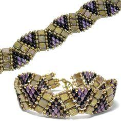 Darby Bracelet pattern by Deb Roberti at AroundTheBeadingTable.com