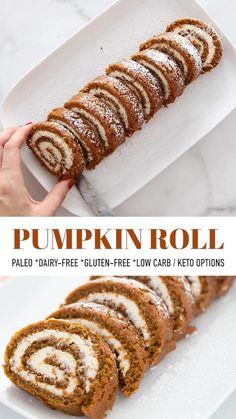 Dairy Free Pumpkin Recipes, Pumpkin Gluten Free Muffins, Easy Pumpkin Roll Recipe, Easy Pumpkin Cake, Gluten Free Deserts Easy, Fall Dessert Recipes, Easy Fall Desserts, Paleo Fall Recipes, Desserts For A Crowd