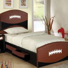 Hokku Designs Sports Fun Football Bed