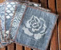 Upcycle Your Old Jeans into Chic Cocktail Napkins (Or wall art...or a new bag...or...)