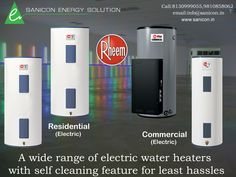 Sanicon Energy Solution An Array Of Electric Water Heaters With Self Cleaning For Least Hassles