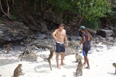Making new friends, Monkey Island, Thailand