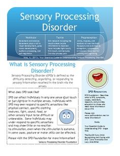 SENSORY PROCESSING DISORDER HANDOUT - TeachersPayTeachers.com