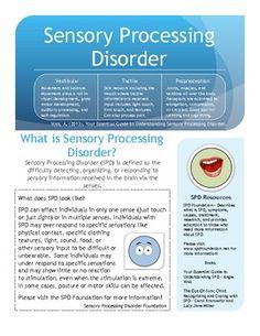 Free Sensory Processing Disorder Handout.  Visit pinterest.com/arktherapeutic for more #sensory #spd resources