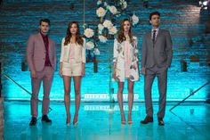 Ted Baker hosted a pool party in winter for the launch of its spring/summer 2015 collection on February 25 in New York at the Aire Ancient Baths. A key image from the campaign is of models standing on water. To replicate that image, the producers installed a clear platform inside one of the pools. Desan Productions also brought in floral elements—matching the hues of the blooms to those in the clothing—and added butterflies made of feathers in a nod to spring and summer.