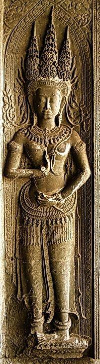 Devata Bayon Goddess of Angkor Wat, Cambodia 12 Century AD