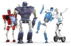 Robot Comic Book Characters -See more Robots at http://tonysrobots.com/store/