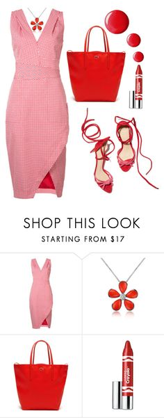 """""""Untitled #1791"""" by ebramos ❤ liked on Polyvore featuring Altuzarra, Del Gatto, Lacoste, Clinique and Topshop"""