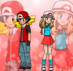 Ash and Serena by Darku909 on DeviantArt