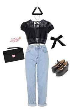 """Love Letter♡"" by sweetpasteldream ❤ liked on Polyvore featuring Nasty Gal, Boutique, Bocage, kawaii, jfashion, Larme and larmekei"