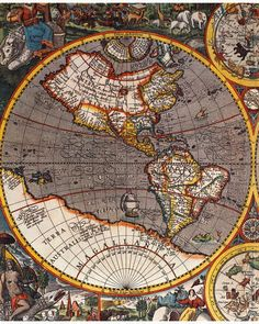 Detail of the Map of the World by Kaerio