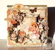 This is one amazing altered art box by @Tara Orr using Place in Time! Love the flowers and the shabby chic nature of this beautiful box! #graphic45