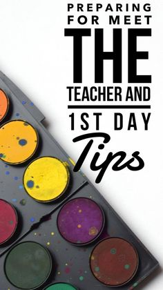 Preparing for Meet the Teacher and 1st Day of School Tips! Ideas and tips for Meet the Teacher Night! - Kreative in Life