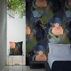 English Rose Wallpaper & cushion by Reeta Ek