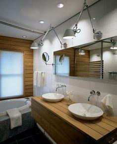 Rustic-modern bath; Hutker Architects