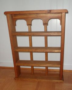 Vintage/Antique Wooden Wall Hanging Shelf by Bematthe on Etsy