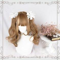 Kawaii Hairstyles, Pretty Hairstyles, Wig Hairstyles, Anime Wigs, Anime Hair, Kawaii Wigs, Lolita Hair, Ulzzang Hair, Cosplay Hair