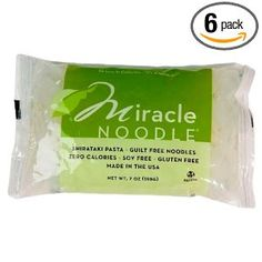 I use these noodles at least twice a week!   Miracle Noodles  Wheat & gluten free and kosher   Made of naturally water soluble fiber with no fat, sugar, or starch   Zero net carbs, zero calories, and made of a healthy natural fiber called Glucomannan   Easily absorbs the flavors of any soup, dish, or sauce