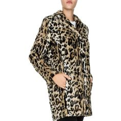 The Kooples Leo Is Back Faux-Fur Coat (20.645 RUB) ❤ liked on Polyvore featuring outerwear, coats, leopard, leopard print coat, the kooples, leopard coat, fuzzy coat and leopard faux fur coat