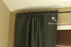 Easy Curtain Fix... I was just having this exact problem with my kitchen curtains